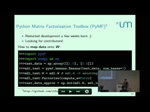 Christian Thurau - Low-rank matrix approximations in Python