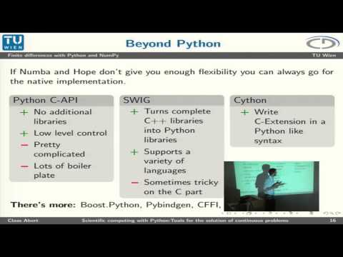 Claas Abert: Scientific computing with Python: Tools for the solution of continuous problems